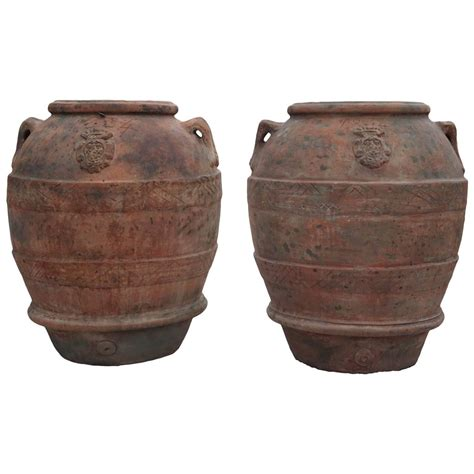 Tuscan Planter by 19th Century Large Tuscan Garden Jar Planters At 1stdibs