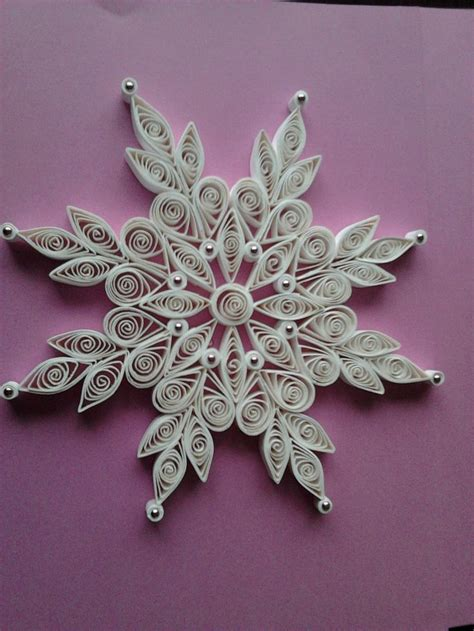christmas lace quilled snowflake ornaments quilling