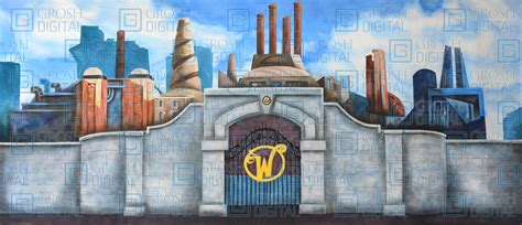 Willy Wonka The Chocolate Factory willy wonka chocolate factory projected backdrops grosh