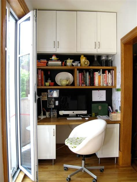 kitchen office corner traditional home office