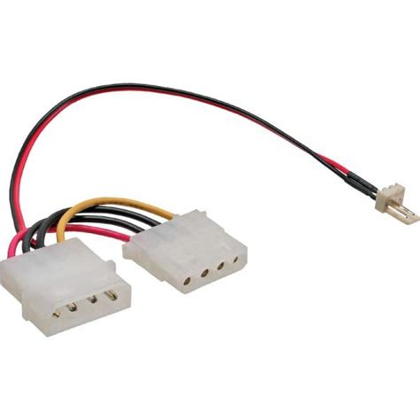 2 pin fan adapter inline 174 fan adapter cable 3 pin fan to 4 pin molex 0 15m