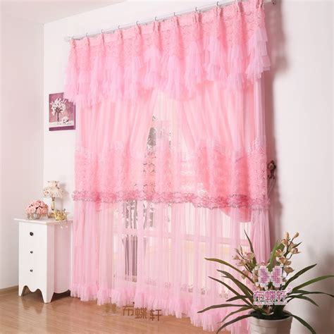 aliexpress com buy princess white pink curtain lace free shipping pink rose embroidery lace curtains custom