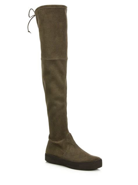 knee boots stuart weitzman playtime ultra stretch the knee boots