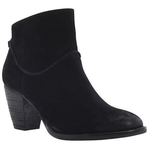 steve madden milan suede ankle boots in black lyst