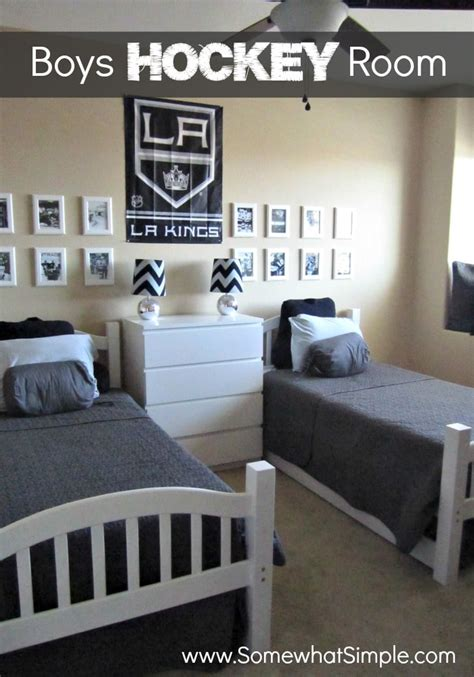 hockey bedroom decor he shoots he scores boys hockey bedroom somewhat simple