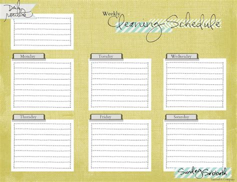 Blank Cleaning Schedule Template a pile of ashes cleaning schedule printable freebie