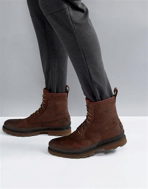 Toods Subzero Boot lyst sorel madson waterproof leather boots in brown in