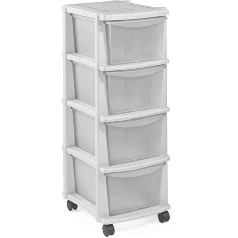 4 drawer plastic storage unit white buy home keter 4 drawer plastic tower storage unit white