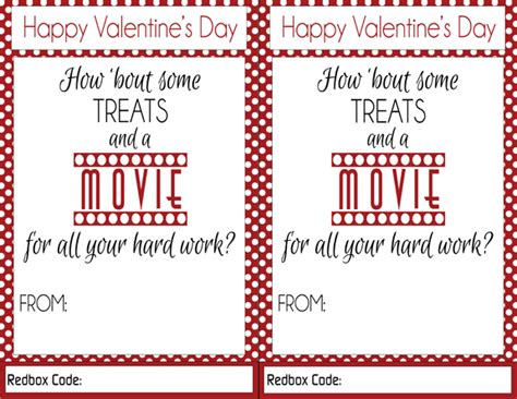 redbox printable gift certificates redbox valentines teacher gift idea over the big moon