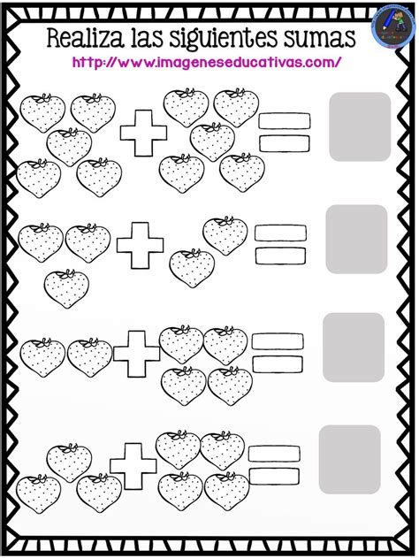 imagenes educativas de matematicas fichas originales para repasar sumas y restas 5