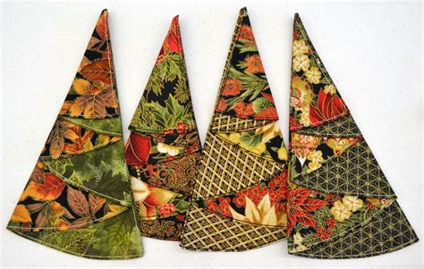 pattern folded christmas tree napkin christmas in july msqc quilting retreat