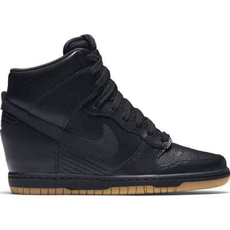 all black sneaker wedges nike dunk all black wedge sneaker black running