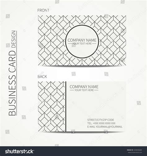 cube business card template geometric cube monochrome business card template stock