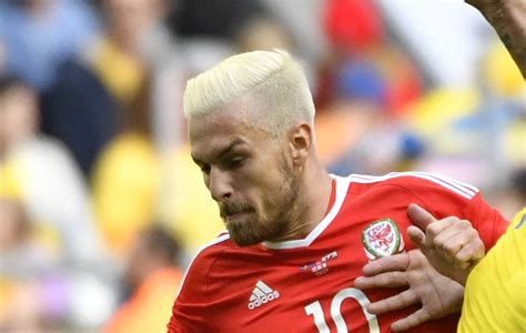 aaron ramsey bleaches hair for wales euro 2016 caign aaron ramsey haircut haircuts models ideas