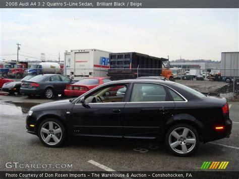 2008 audi a4 3 2 quattro brilliant black 2008 audi a4 3 2 quattro s line sedan