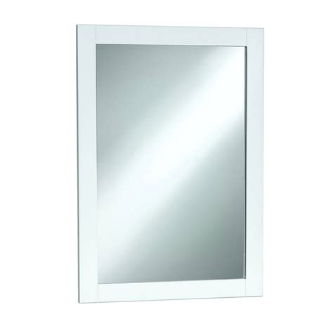 White Bathroom Mirror Magickwoods 20 Quot X 30 Quot Shaker Style Wall Mirror With White Frame Ebay