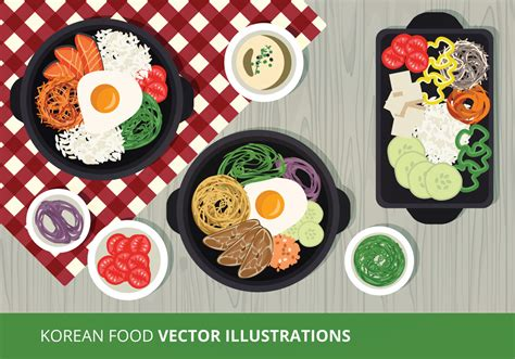 food vector korean food vector illustration download free vector art