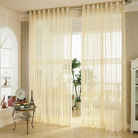 organza curtain cortina para sala organza curtains embroidered sheer