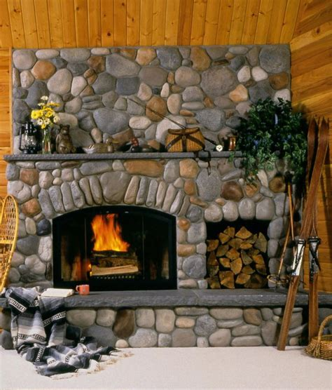 the 25 best river rock fireplaces ideas on pinterest