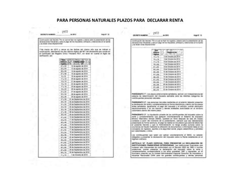 montos personas naturales para declarar renta plazos para declarar renta personas naturales del a 209 o 2 013