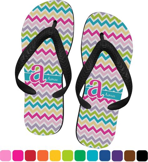 colorful flip flops colorful chevron flip flops xsmall personalized rnk