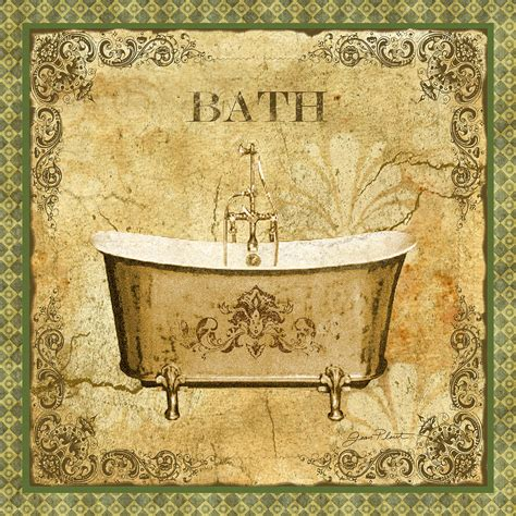 bathtub paintings vintage bath digital art by jean plout