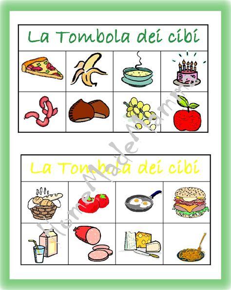 tema sull alimentazione scorretta la tombola degli alimenti giochi da tavolo fai da te