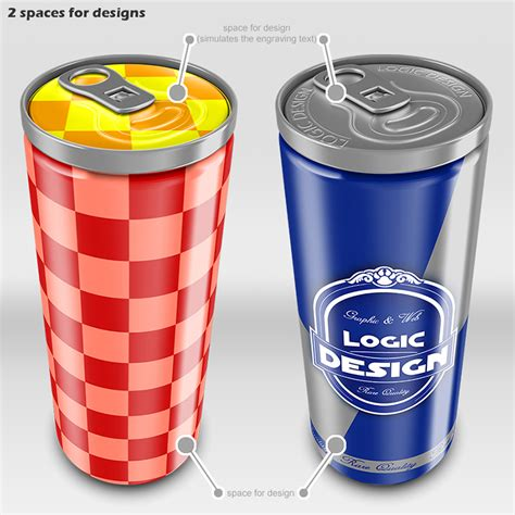 Energy Drink Can Mock Up Logic Design Studio Energy Drink Design Template