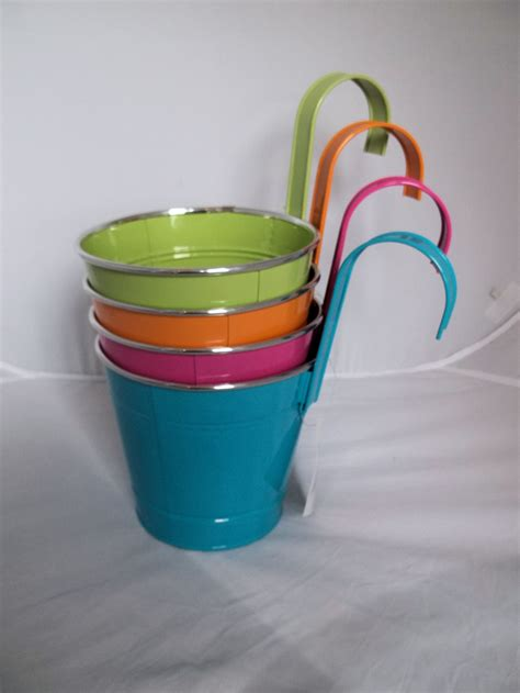 Bright Planters by Bright Coloured Style Planters Novelty Garden
