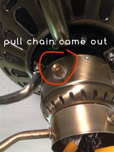 ceiling fan chain pulled out ceiling fan pull chain came out doityourself com
