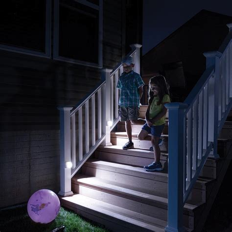 battery powered stair lights outdoor mr beams mb522 wireless battery operated indoor outdoor