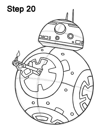 Bb8 Drawing Outline by How To Draw Bb 8 Wars The Awakens