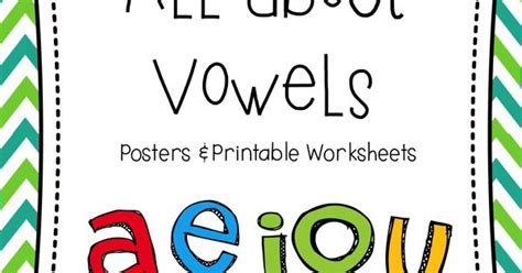printable vowels poster short long vowels posters printable worsheets long