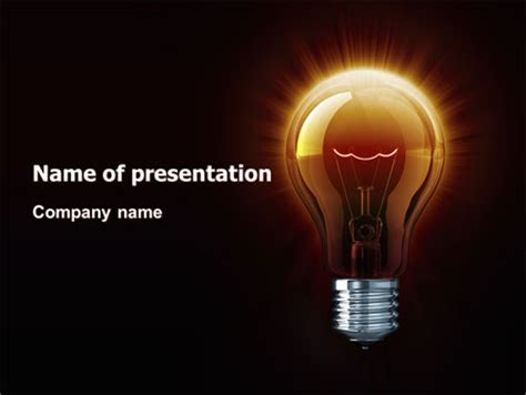 light bulb powerpoint template backgrounds 03218