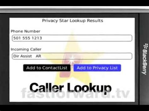 Privacystar Lookup Privacystar Call Blocking Lookup App For Blackberry