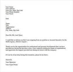 College Resignation Letter Resignation Letter 8 Documents In Pdf Word