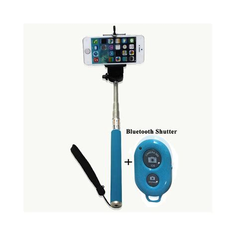 Monopod Android extendable selfie stick phone holder remote shutter