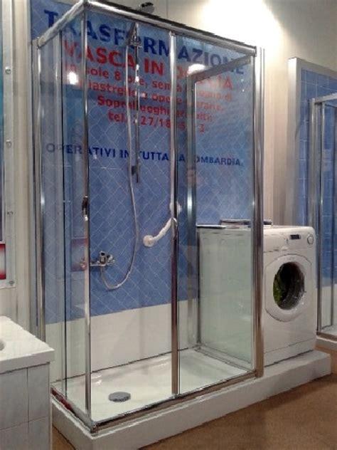 trasformazione doccia in vasca foto trasformazione vasca in doccia con lavatrice di