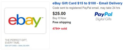 Paypal Gift Card Ebay - a new way to increase rewards beyond 5x frequent miler