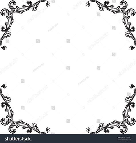 border decorative vintage elements decorative vintage borders frames page decoration stock