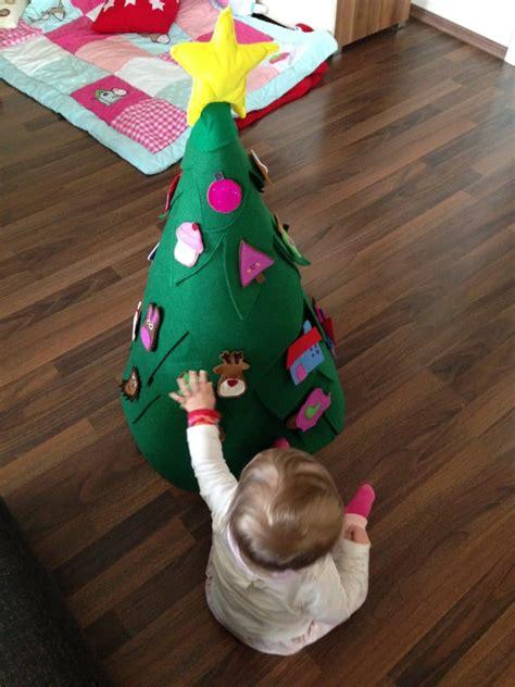 3 d weihnachtsbaum adventskalender aus filz handmade