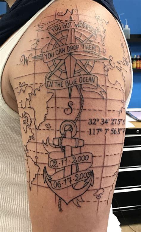compass tattoo coordinates 25 best ideas about coordinates tattoo on pinterest