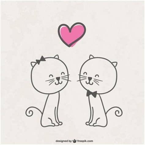 imagenes de amor de gatitos animados katzen vektoren fotos und psd dateien kostenloser download