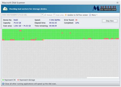 Harddisk Bad Sector macrorit disk scanner scans disk and checks bad sector for free