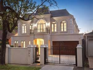 Country French Exteriors - melbourne real estate french provincial home sham