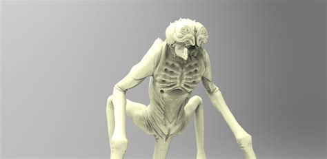 alien creature  model  printable stl cgtradercom