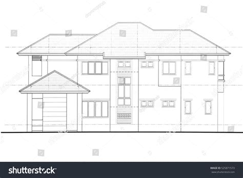 Side View House Plans by House Plan Side View Stock Illustration 525871573
