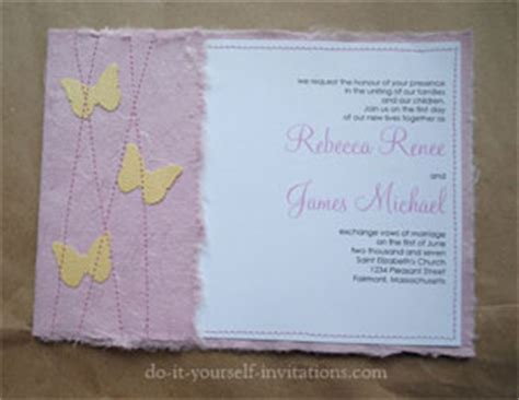 Handmade Paper Invitations - handmade paper wedding invitations