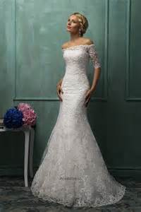 High quality/2014 new /Exquisite French lace /cap-sleeve/half-sleeves/ luxury Vintage trumpet wedding dress
