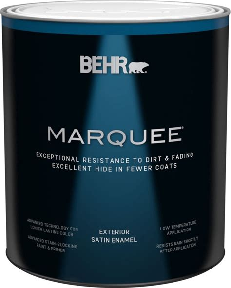 behr marquee marquee 174 946 ml medium base satin enamel exterior paint with primer the home